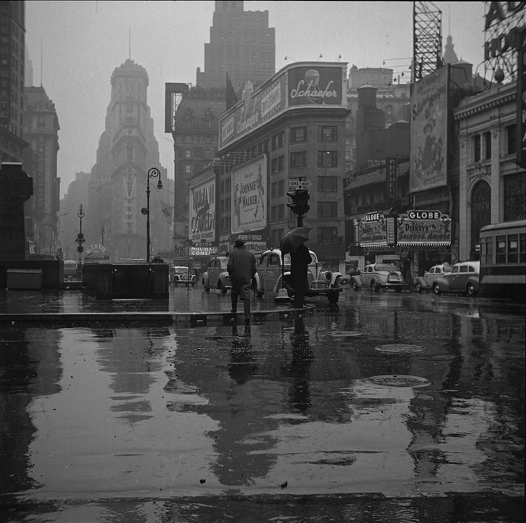 Times Square on a Rainy Day 1943 - John Vachon