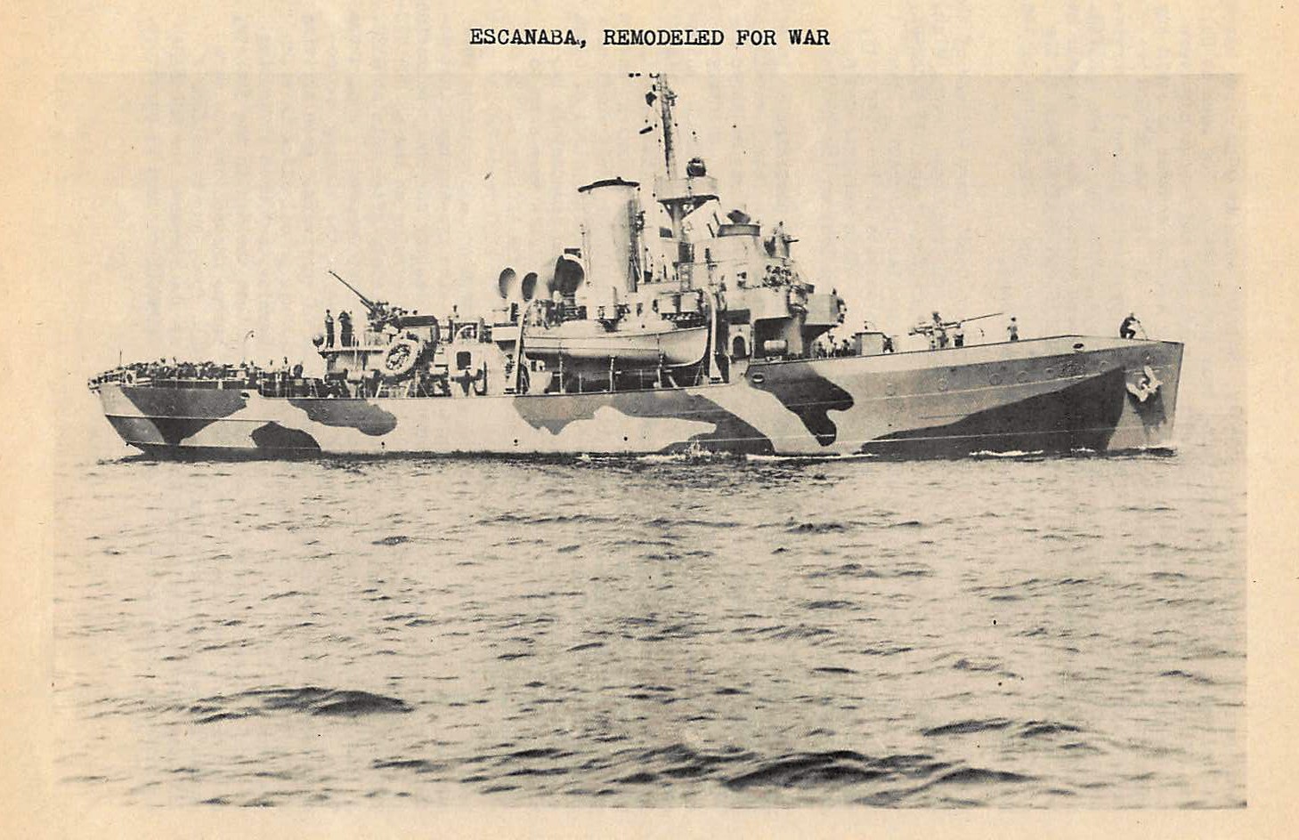 The C.G.C. Escanaba Remodeled for War